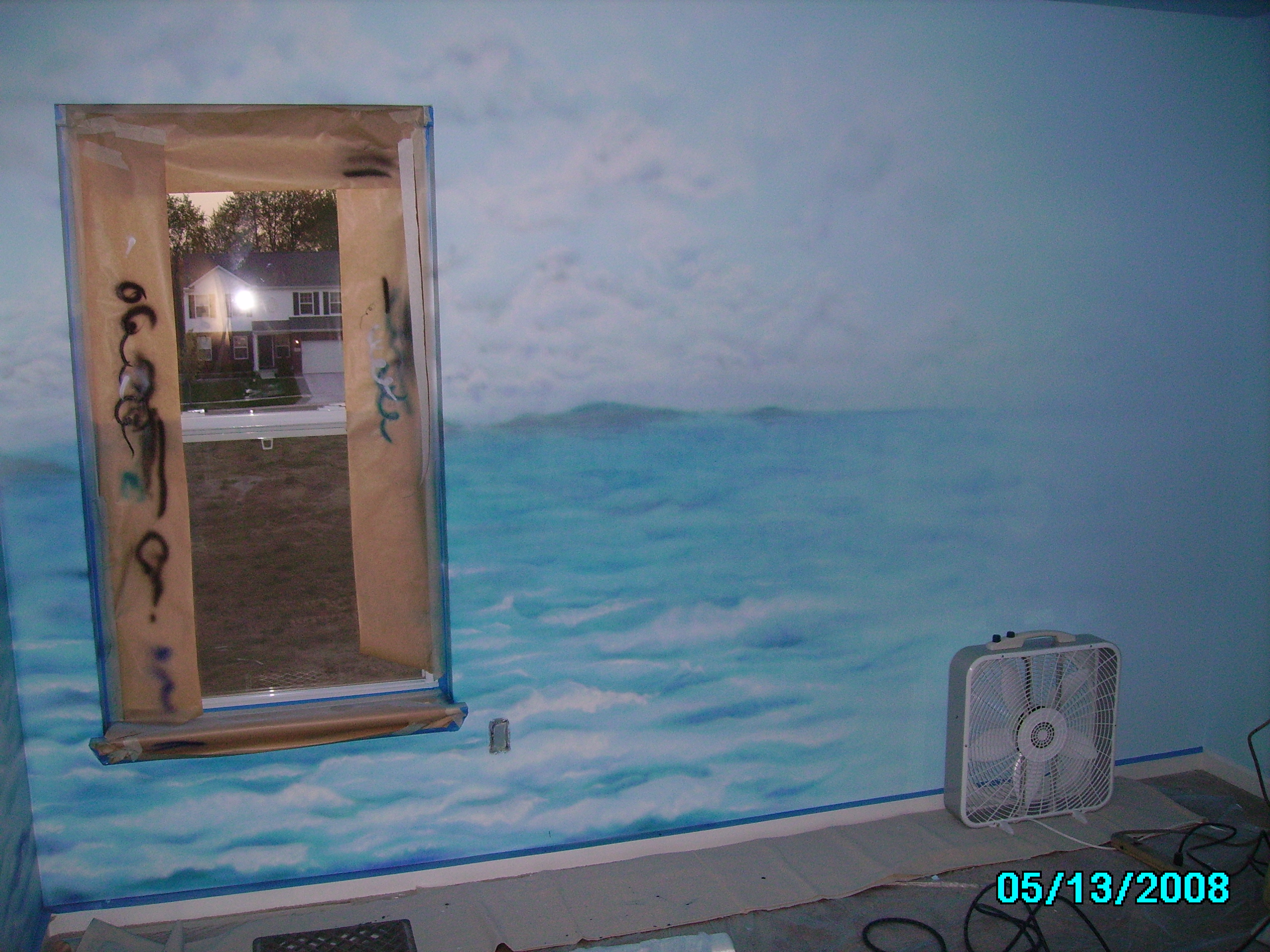james labadie mural pirate ship kid s room harlig saker mural artist james labadie kids pirate ship mural right wall